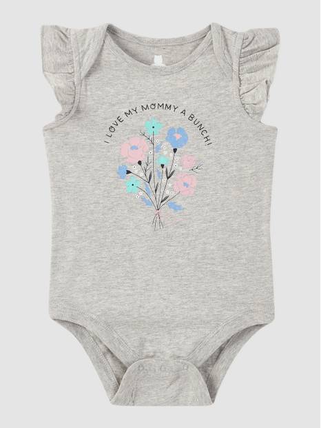 Baby Graphic Ruffle Bodysuit