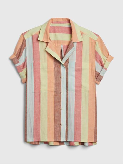 Stripe Shirt in Linen-Cotton