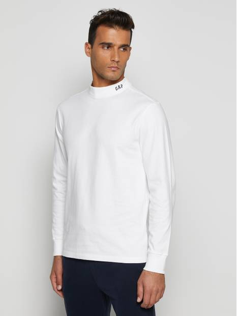 Mock Neck Logo Sweatshirt