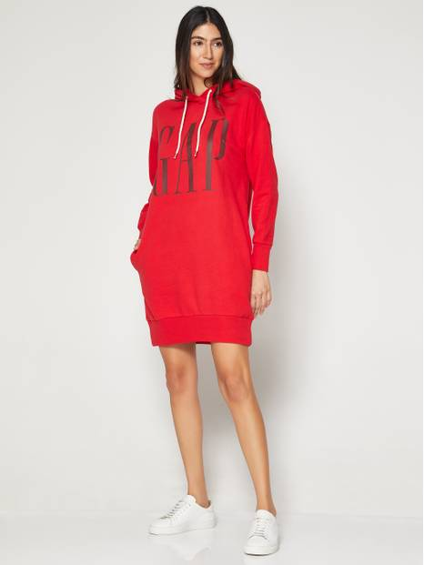 Gap Logo Sweatshirt Hooded Dress