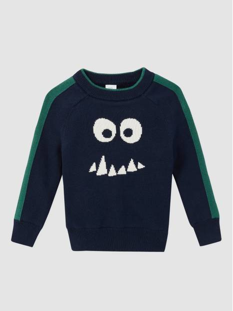 Toddler Cozy Intarsia Graphic Crewneck Sweater