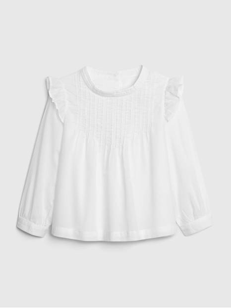 Toddler Pintuck Embroidered Shirt