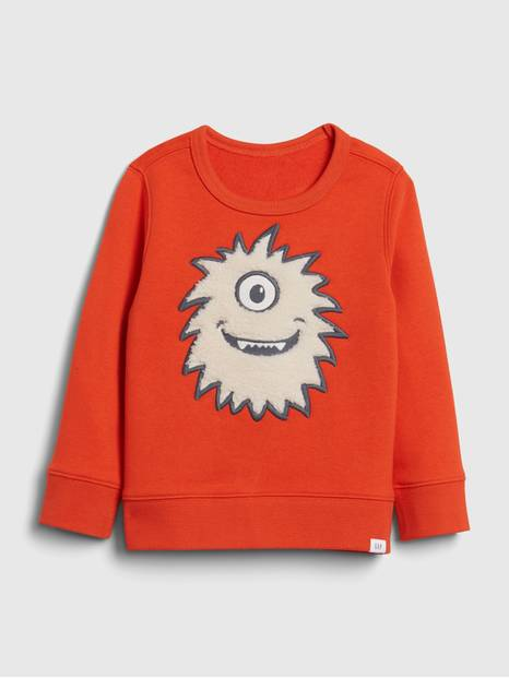 Toddler 3D Monster Crewneck Sweatshirt