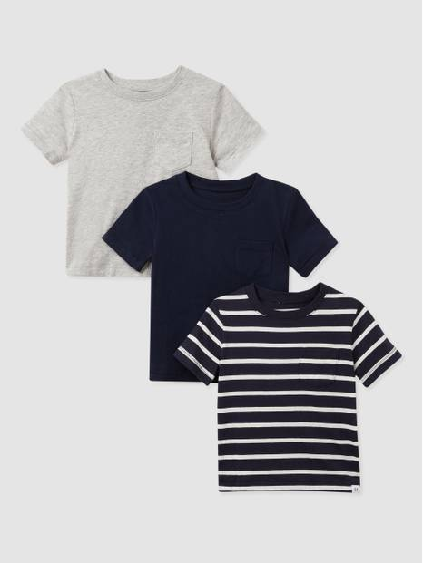 Toddler Crewneck T-Shirt, 3-Pack