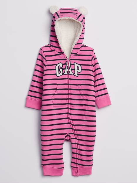 Baby Gap Cozy-Lined Logo One Piece