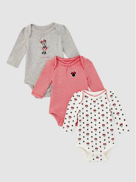 Baby Gap Disney Minnie Mouse Bodysuit, 3-Pack