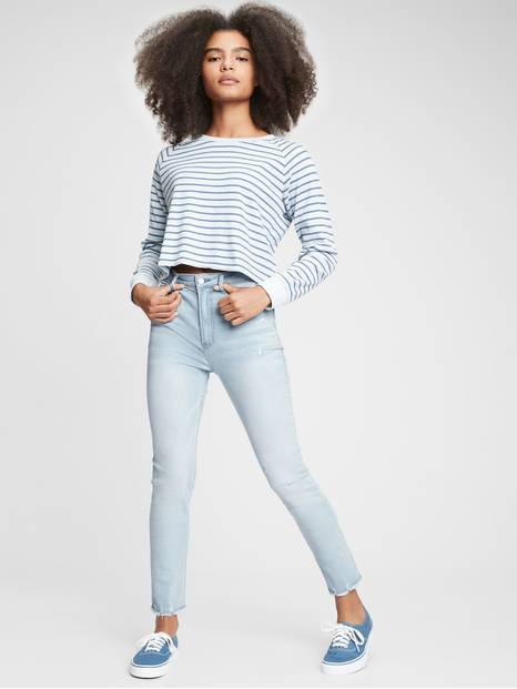 Teen Sky High Rise Super Skinny Jeans with Stretch