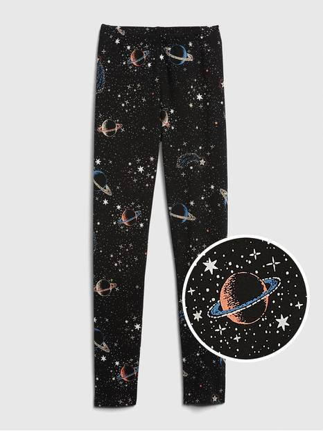 Kids Graphic Leggings in Stretch Jersey