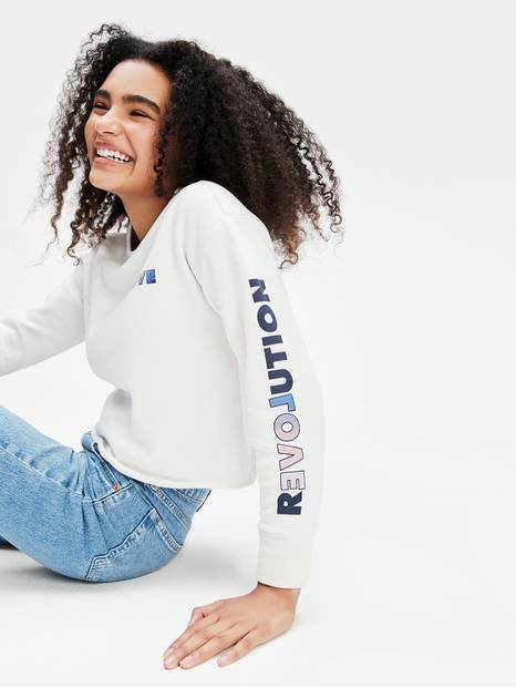 Teen Cropped Crewneck Sweatshirt