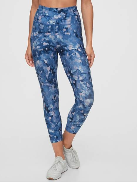 GapFit High Rise Blackout Print 7/8 Leggings