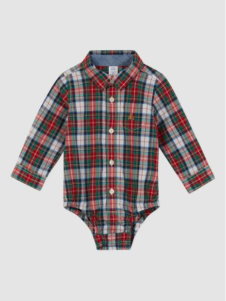 babyGap Plaid Bodysuit