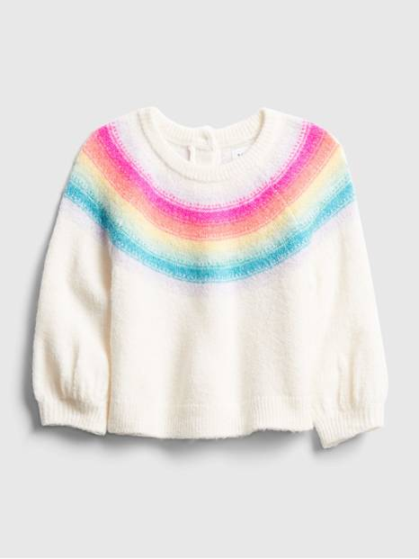 Baby Neon Rainbow Crewneck Sweater