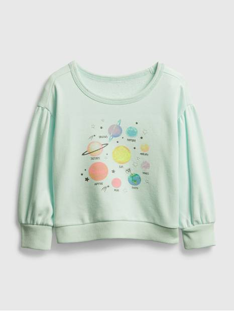 Toddler Planet Graphic Crewneck Sweatshirt