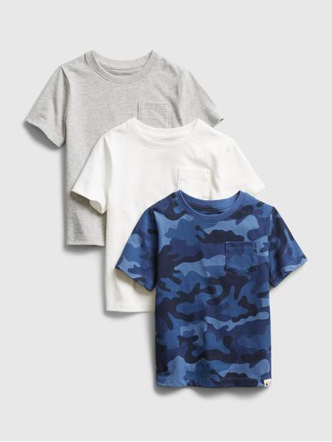 Toddler Mix and Match Pocket T-Shirt (3-Pack)