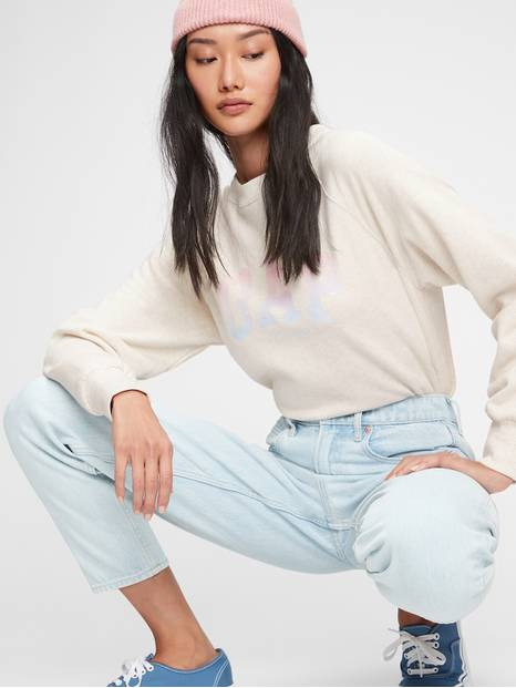 Gap Logo Crewneck Tunic Sweatshirt