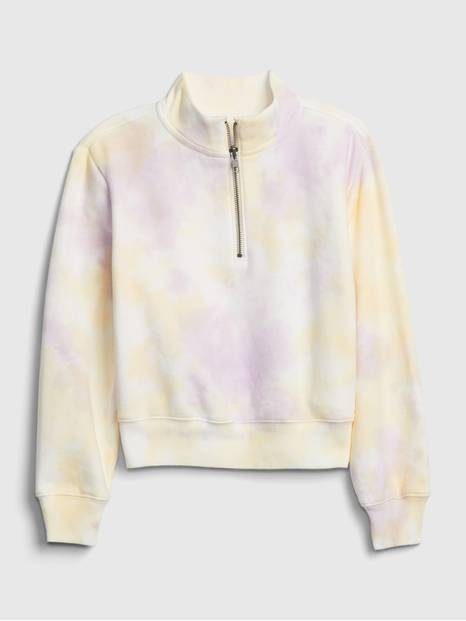 Kids Tie-Dye Quarter Zip Sweatshirt