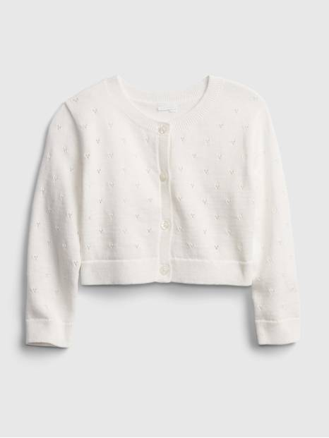 Baby Heart Pointelle Cardigan