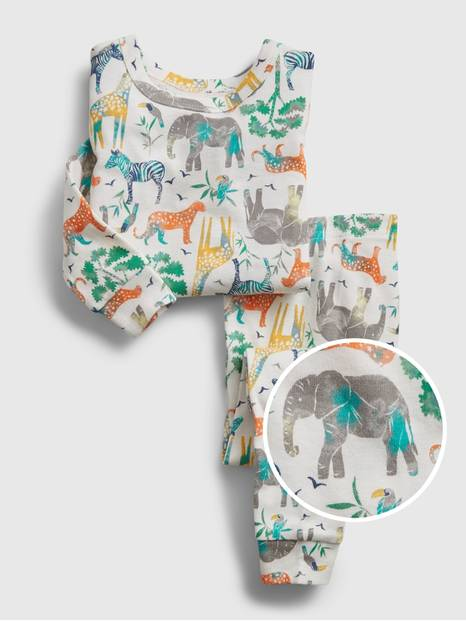 babyGap Organic Safari Graphic PJ Set