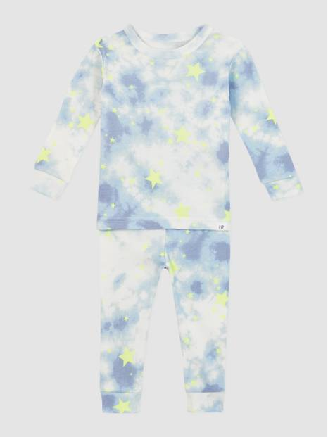 Baby Organic Cotton Star Tie-Dye PJ Set