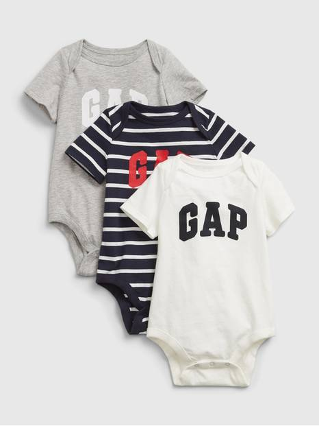 Baby Gap Logo Bodysuit (3-Pack)