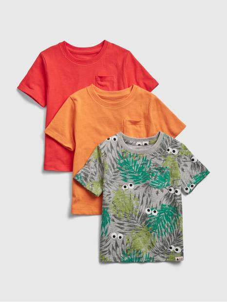 Toddler 100% Organic Cotton Mix and Match T-Shirt (3-Pack)