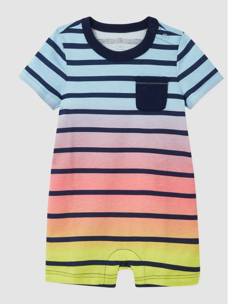 Baby Ombre Stripe Shorty One-Piece