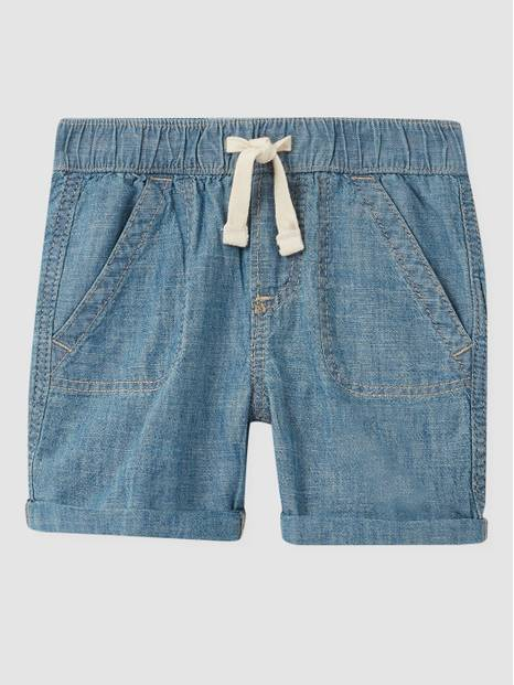 Baby Chambray Pull-On Shorts