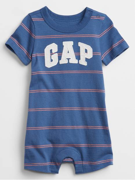 Baby Gap Logo Stripe Shorty One-Piece