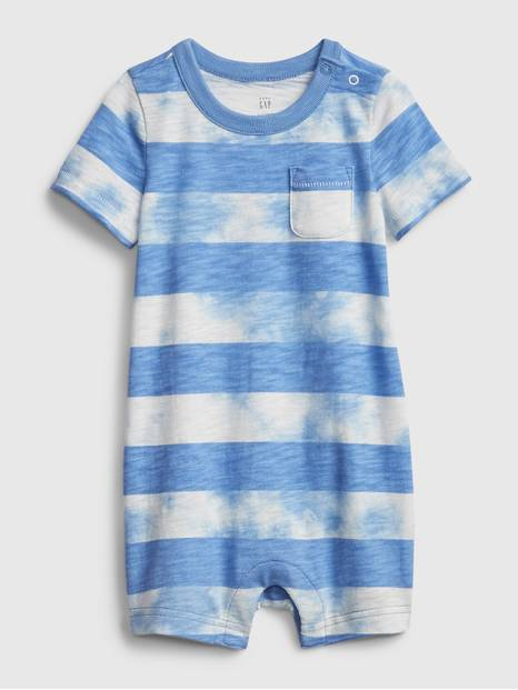 Baby Striped Tie Dye Shortall