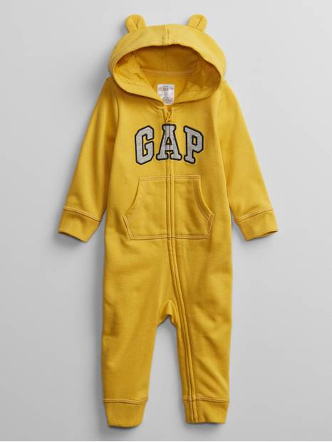 Baby Recycled Gap Logo Hoodie One-Piece