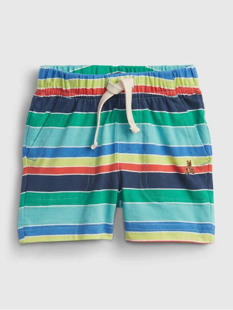Baby Organic Cotton Mix and Match Stripe Pull-On Shorts