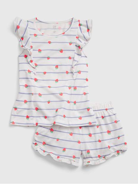 Kids Recycled Flutter Short PJ Set