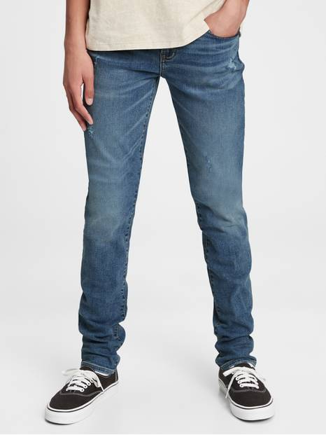 Teen Stacked Ankle Skinny Jeans with Stretch