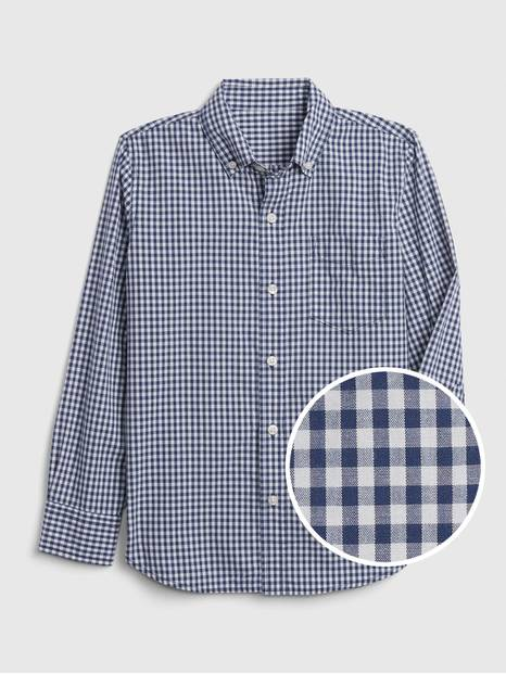 Kids Gingham Poplin Shirt