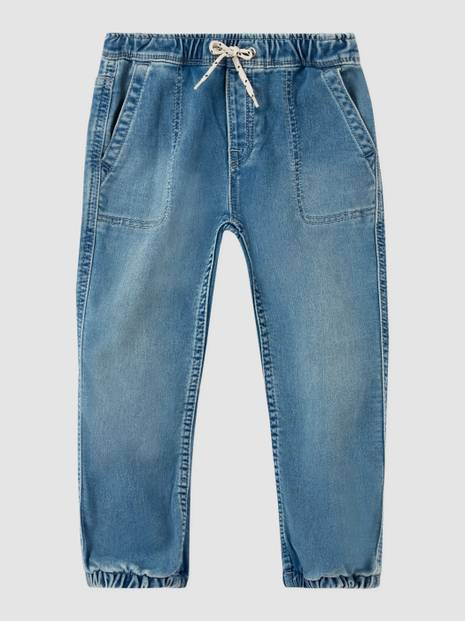 Kids Denim Pull-On Joggers with Stretch