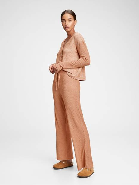 Adult Softspun Ribbed Wide-Leg Pants