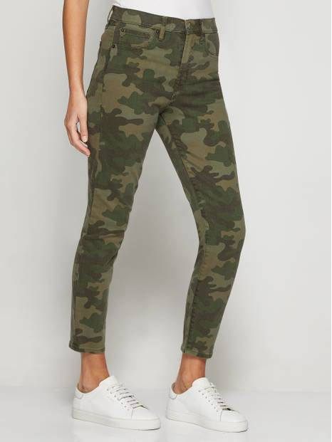 High Rise True Skinny Camo Jeans with Secret Smoothing Pockets