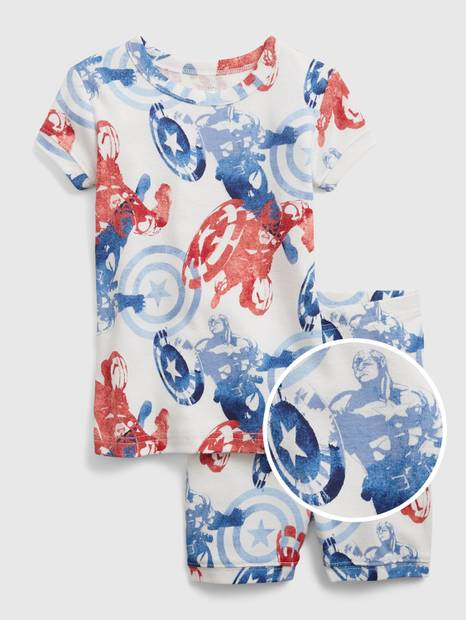 babyGap &#124 Marvel Captain America 100% Organic Cotton PJ Set