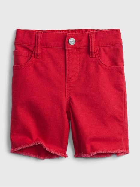 Toddler Elasticized Pull-On Denim Shorts with Stretch